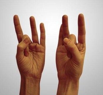 Держа большой палец руки неподвижным, остальными пальцами нужно стремиться прикоснуться к его основанию