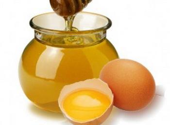 Мед + сырые яйца