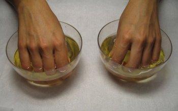 Ванночки с питьевой содой и оливковым масло
