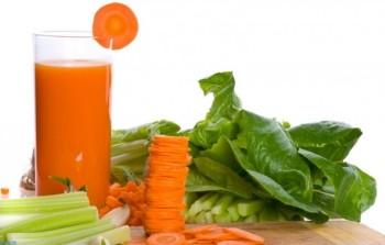 Соки моркови и шпината