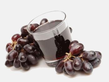 Сок из темных сортов винограда