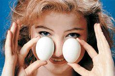Прогревание вареными яйцами