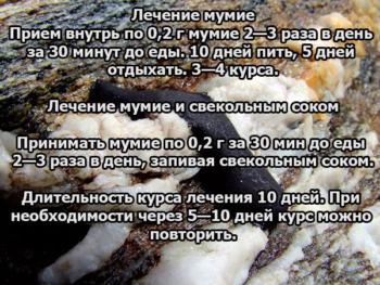Рецепты с мумие