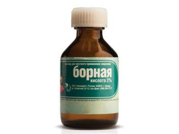 Борная кислота – традиционное средство, которое используется для лечения воспалительных процессов в слуховом проходе