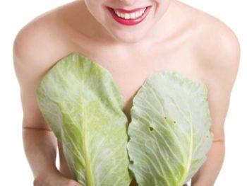 Самый простой способ лечения мастопатии капустой - это приложить их к груди