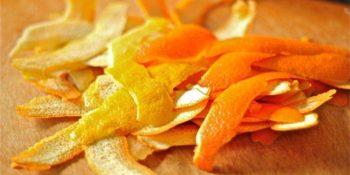 Высушенные корки цитрусовых (апельсина, лимона, мандаринов, грейпфрута) – 2 горсти
